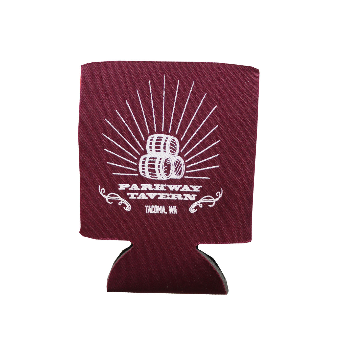 """Barrel-Aged"" Can Coozie - Maroon"