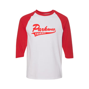 "Parkway ""Team Logo"" 3/4 Sleeve Shirt - Red"