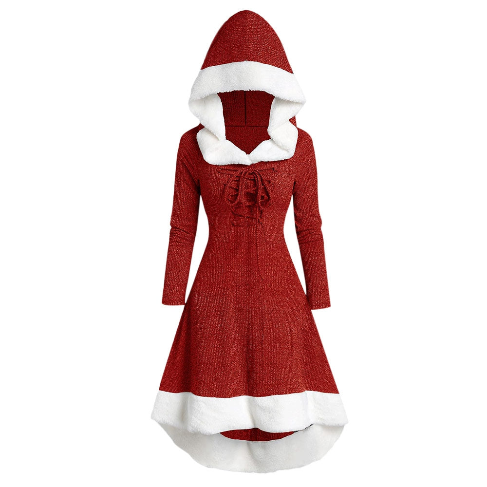 Hooded Long Sleeve Dress by WPEGNC