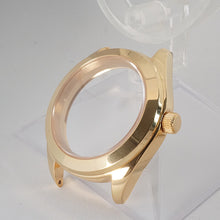 Load image into Gallery viewer, GPI391 – Gold Tone 3 o'clock Case + Installed Double Domed Crystal
