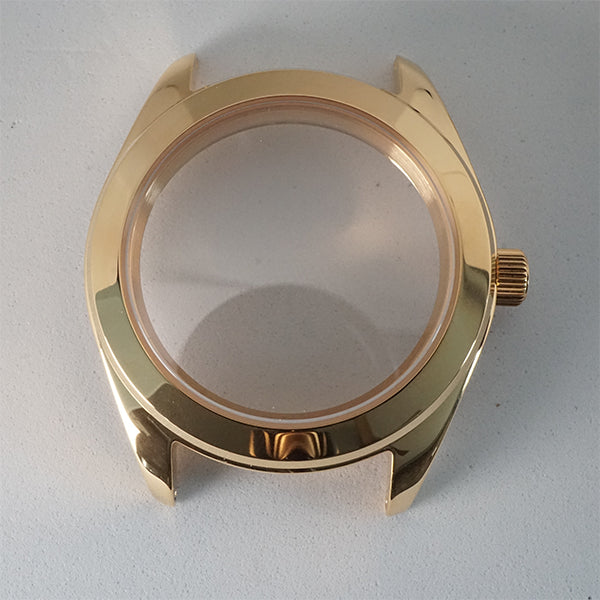 GPI391 – Gold Tone 3 o'clock Case + Installed Double Domed Crystal