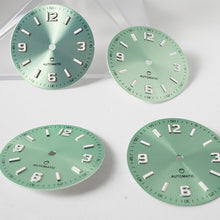 Load image into Gallery viewer, LDXM01 - Mint Green Sunburst 12 3 6 9 -  4:00 no Date