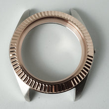Load image into Gallery viewer, FCR391 Polished 3 o'clock Case with Rose Gold Fluted Bezel