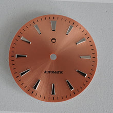 Load image into Gallery viewer, GDOS01 - Salmon Sunburst Dial w/ Polished Indices
