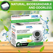 Load image into Gallery viewer, XROM Waste Disposal Cleaner and Deodorizer With Powerful Foaming Action, 6 Tablets - xrominc