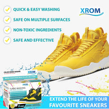 Load image into Gallery viewer, XROM Turbo Washing For Coloured Sneakers, Remove Dirt and Stains, 6 uses - xrominc
