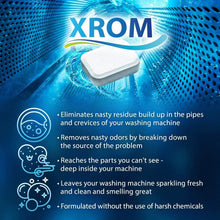 Load image into Gallery viewer, XROM High Efficiency Washing Machine Cleaner Pro Tablets 3 in 1 Formula, 6 Tablets Count Box - xrominc