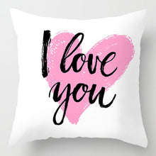 Load image into Gallery viewer, Fashion Pink Letter Pillow Case 45*45 Polyester Home Throw Pillows Soft Decorative Cushion Cover For Sofa Chair Pillow Covers