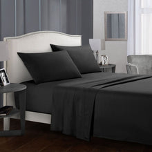 Load image into Gallery viewer, Pure Color Bedding Set Bed Linens Flat Sheet+Fitted Sheet+Pillowcase Queen/ King Size Gray Soft comfortable white Bed set40