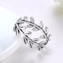 Load image into Gallery viewer, Solid 925 Sterling Silver Ring Leaves Shape OL Accessories Jewelry Rings