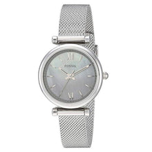 Load image into Gallery viewer, Fossil Women Mini Carlie Stainless Steel and Mesh Casual Quartz Watch