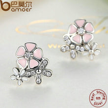 Load image into Gallery viewer, BAMOER 925 Sterling Silver Poetic Daisy Cherry Blossom Drop Earrings PAS461
