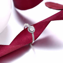 Load image into Gallery viewer, Solid 925 Sterling Silver Female Wedding Ring Classic Cubic Zirconia Fashion Jewelry Rings