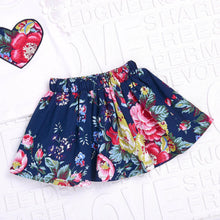 Load image into Gallery viewer, Baby Girl Clothes Floral Print Lace Tops+Print Skirt +Bow HeadbandsClothes Outfits Set