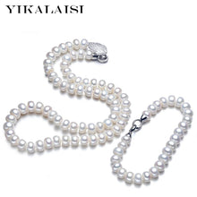 Load image into Gallery viewer, YIKALAISI Natural Pearl jewelry set for women 8-9mm