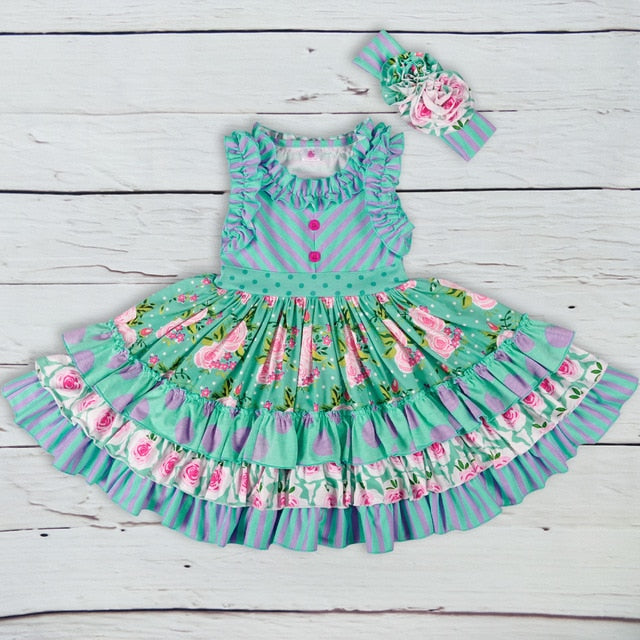 Baby Girl Summer Girls Dress Knited Princess Party Clothing Beautiful Remake Dress
