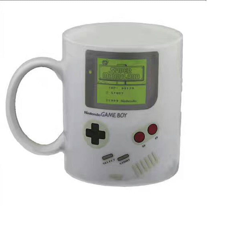 Game Boy Color Changing Mug White Ceramic Milk Tea Cup Heat Change Mug For Kids