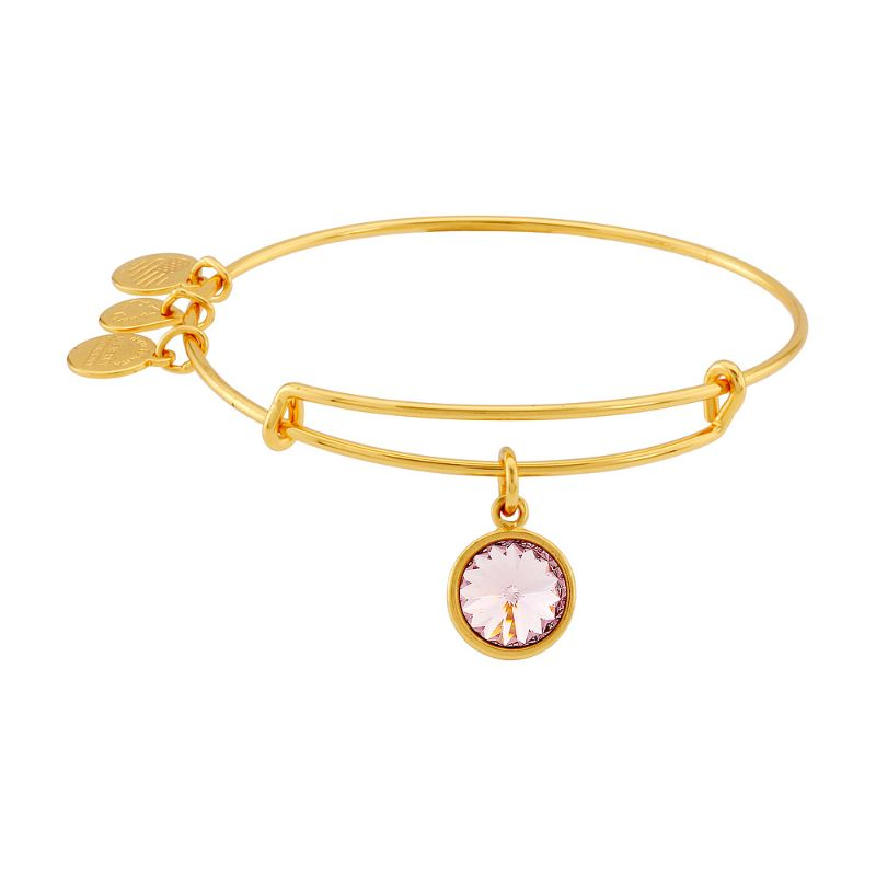 Alex And Ani June Birthstone Gold Expandable Bangle Bracelet A09EB245G