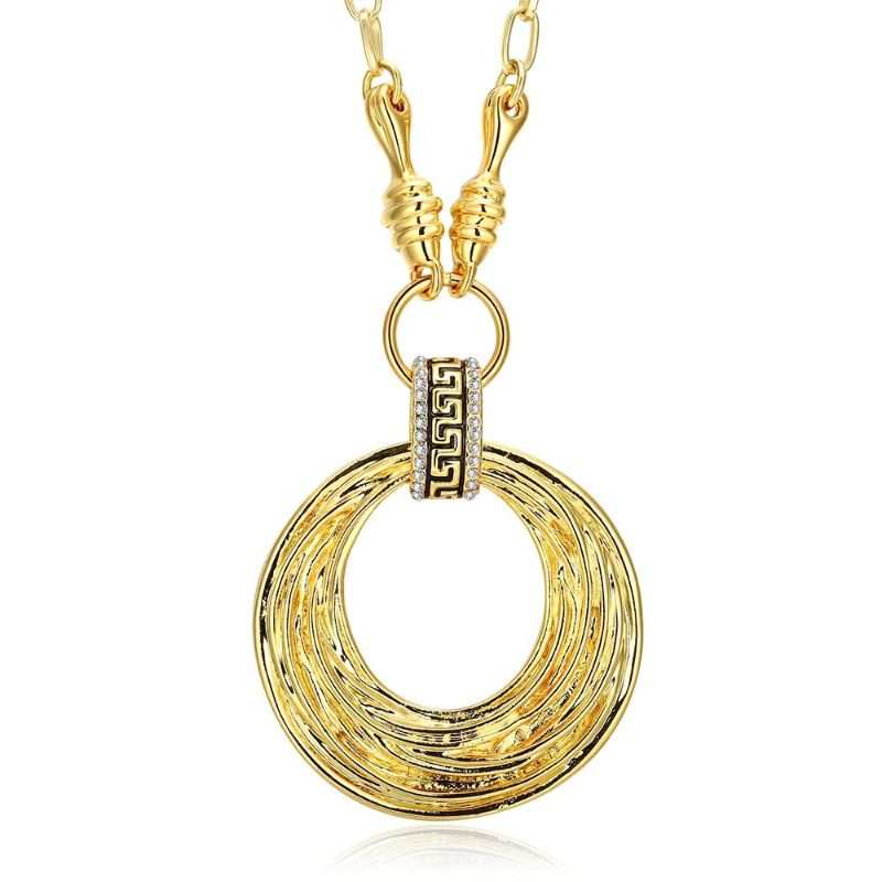Round Discs Necklace in 18K Gold Filled