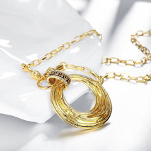 Load image into Gallery viewer, Round Discs Necklace in 18K Gold Filled