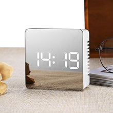 Load image into Gallery viewer, Multifunction LED Mirror Alarm Clock Digital Clock Snooze Display Time Night Led Light Table Desktop Alarm Clock Despertador