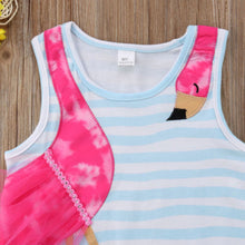 Load image into Gallery viewer, Summer Kids Girls Dress Baby Girls Bird Cartoon Striped Party Pageant Toddler Fashion Holiday Beach Dress Children Clothes