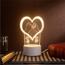 Load image into Gallery viewer, Lamp lights 3D stereo Night light Small table lamp Bedside lamp LED lamp Birthday festival children decorate