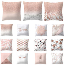 Load image into Gallery viewer, Lash Pillow Case Rose Gold Geometric Pineapple Glitter Polyester Sofa Decorative Cushion Cover for Home Decor