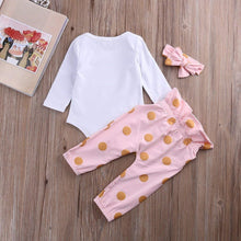 Load image into Gallery viewer, Infant Newborn Baby Girls HELLO WORLD Romper Tops+Pants Clothes Outfit Sets