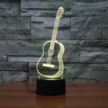 Load image into Gallery viewer, 3D Optical Illusion LED Lamp guitar Night Light, 7 Color Changing Night Light, Room Decor Light, Table Desk Lamp