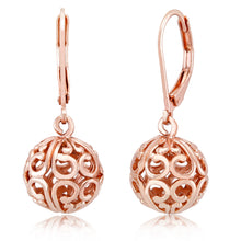 Load image into Gallery viewer, [2-Pack] Rose Gold Filigree Earrings
