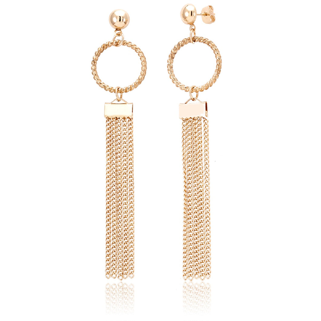 18kt Gold Plated Drop Fancy Earrings