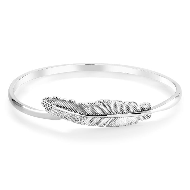 Women's Silver Feather Bracelet