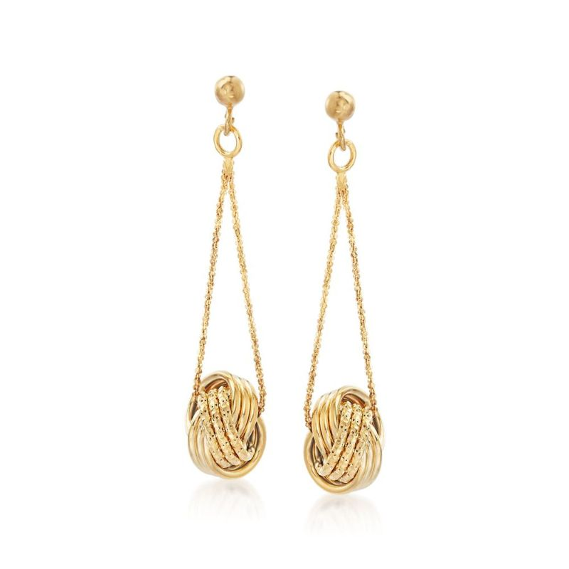 Dangling Mesh Knot Earrings