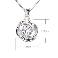 Load image into Gallery viewer, Grandma Grandson - Pave Heart Necklace Made with Swarovski Crystals