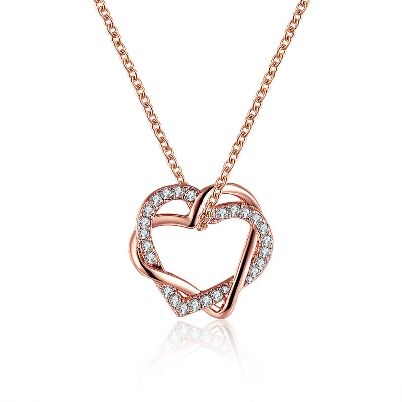Swarovski Crystal Heart Necklaces Plated in 18K Gold