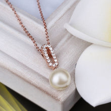 Load image into Gallery viewer, Freshwater Pearl Necklaces Plated in 18K White Gold