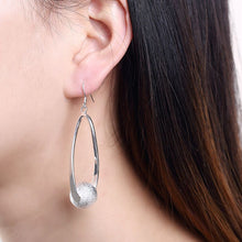 Load image into Gallery viewer, Pearl Drop Earring Plated in 18k White Gold