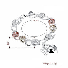 Load image into Gallery viewer, Two Tone Bracelet Plated in 18K White Gold