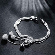 Load image into Gallery viewer, Triple Bead Bracelet Bracelet Plated in 18K White Gold