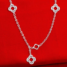Load image into Gallery viewer, Designer Inspired Necklace in 18K White Gold Filled