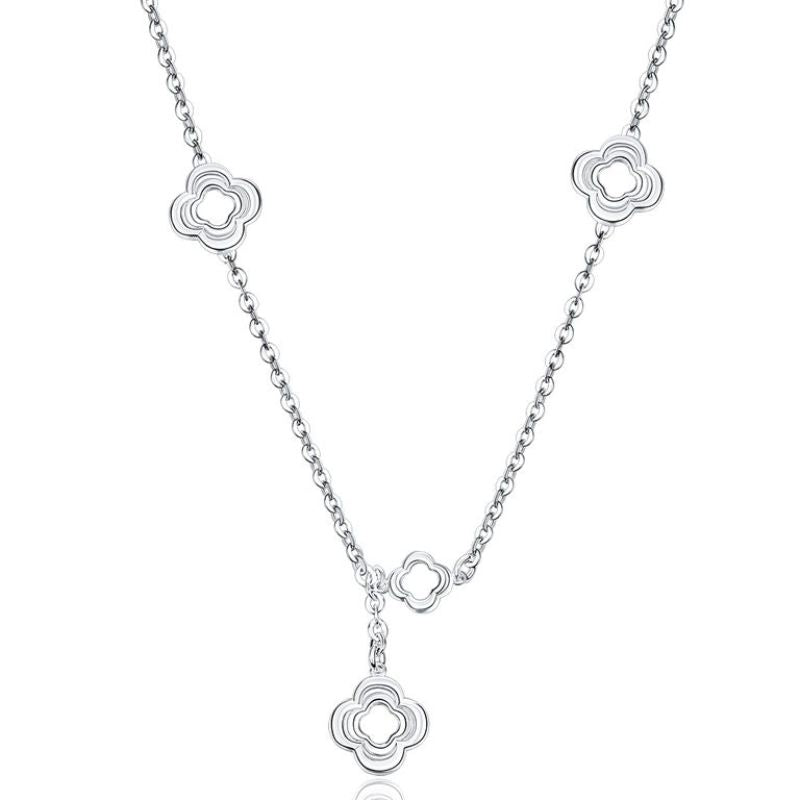 Designer Inspired Necklace in 18K White Gold Filled