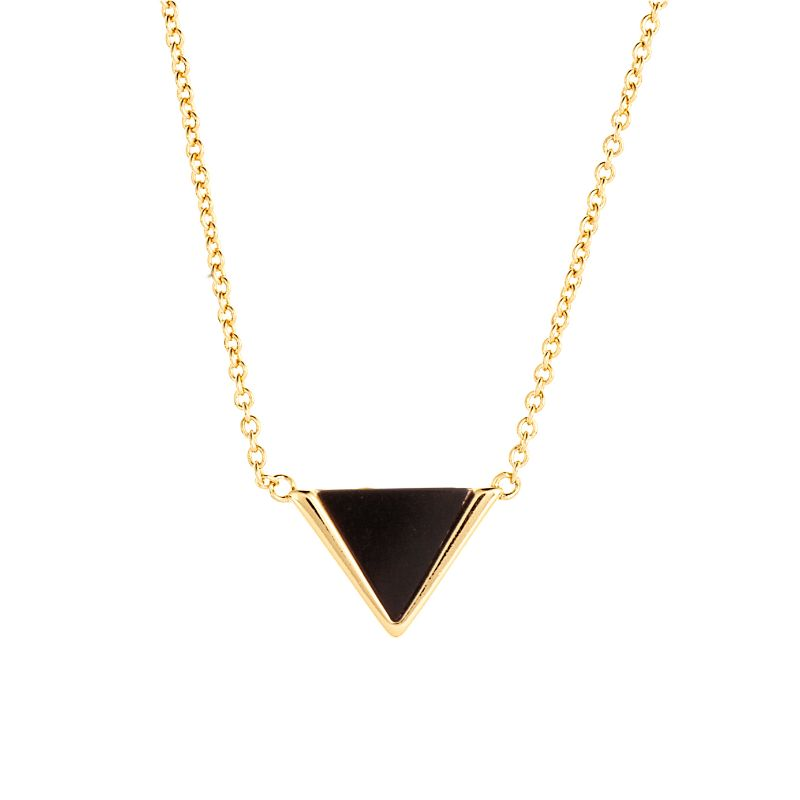 Sole du Soleil Women's 18K Gold Plated Simulated Triangle Fashion Necklace