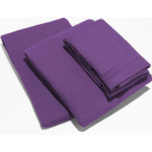 Load image into Gallery viewer, 4 Piece Set Ultra-Soft Egyptian Comfort Deep Pocket Brushed 1800 Series
