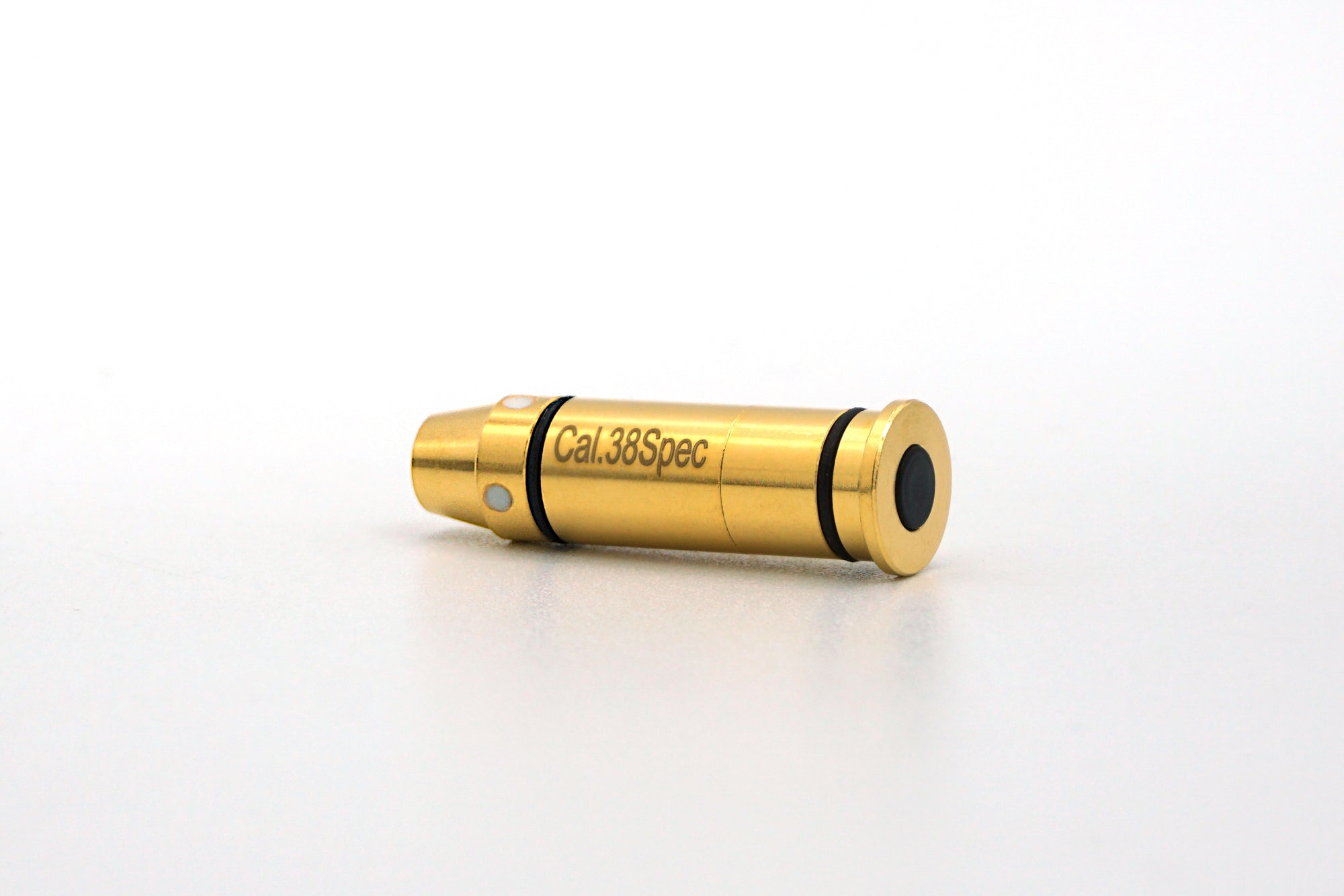 .357 Magnum / .38 Special Laser Ammunition Dry fire training ammo Use this laser bullet with your own gun laser activates with firing pin strike Train with free apps or hard laser targets for best experience.
