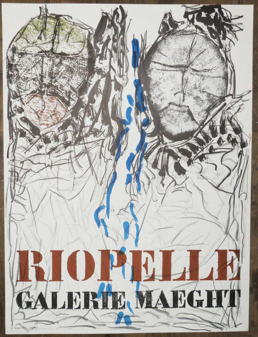 Affiche d'Exposition Rebeyrolle, Galerie Maeght.