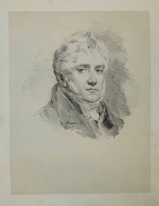 Portrait de L.M. Bruzard (Auteur du Catalogue des lithographies d'Horace Vernet).