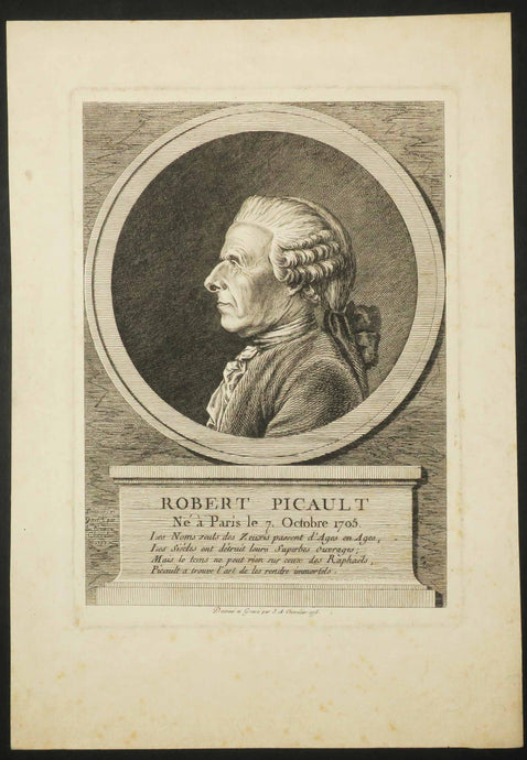 Portrait de Robert Picault, Restaurateur de tableaux (né à Paris le 7 octobre 1705).