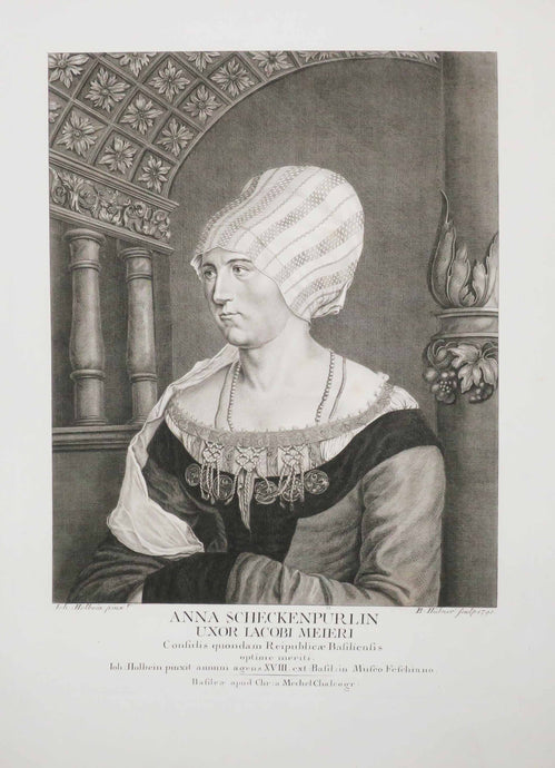 Portrait d'Anna Scheckenpürlin, Epouse de Jacob Meyer.