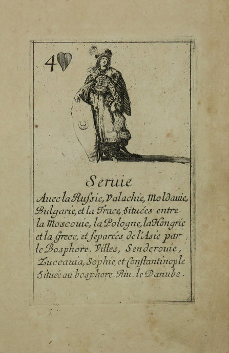 Serbie. Carte de la suite